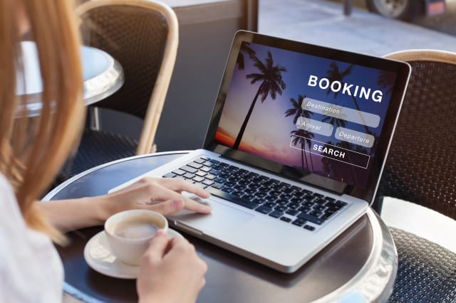 booking online concept, travel