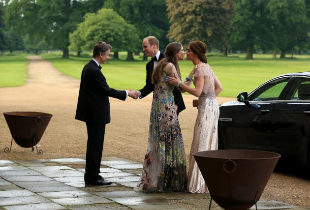 KING'S LYNN, ENGLAND - JUNE 22: HRH Prince William and Catherine, Duchess of Cambridge are greeted by...