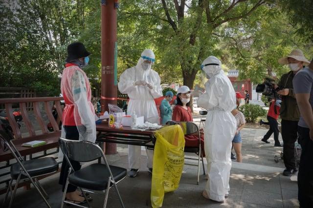 Mass testing in China's Beijing