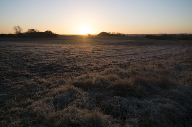 Frosty Morning Winter Landscape In Olney