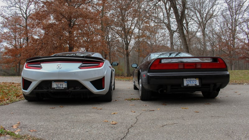 1991 and 2019 Acura NSX