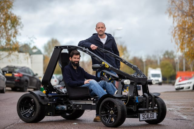 British boffins unveil Europe's first working electric Mario Kart-style buggy made from recycled plastic and built on a 3D printer