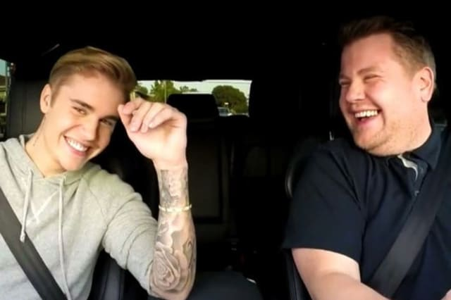 Carpool Karaoke: Fans shocked to see James Corden and Justin Bieber being towed for video