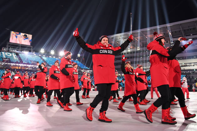 c628517e9c1d9 Team Canada at the opening ceremony of the Pyeongchang 2018 Winter Olympic