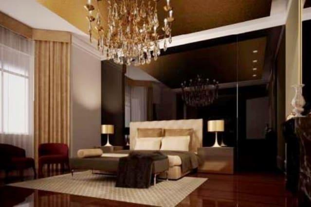 The glamorous bedroom