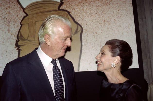 1991年、ジバンシィ氏とヘプバーン。