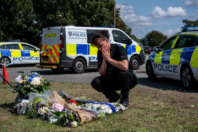 Tributes Are Left At The Scene Where PC Andrew Harper Died