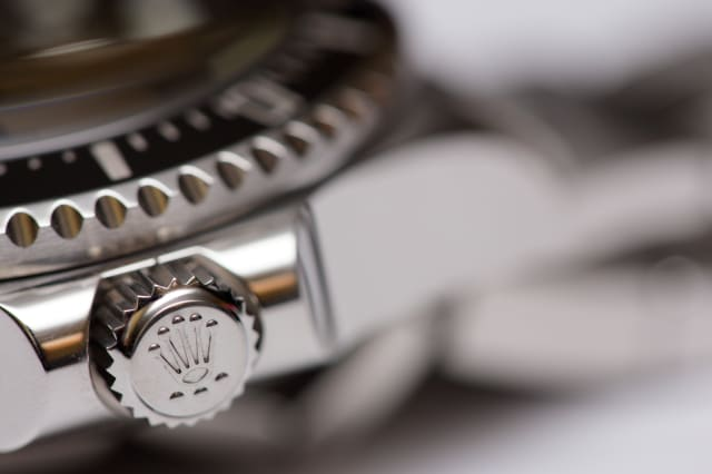 Stock image of a Rolex adjustment crown
