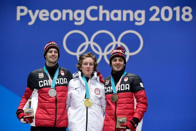 (左)カナダのマックス・パロット選手(中)アメリカのレドモンド・ジェラルド選手(右)カナダのマーク・マクモリス選手
