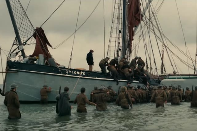 The boat as it appears in the movie Dunkirk