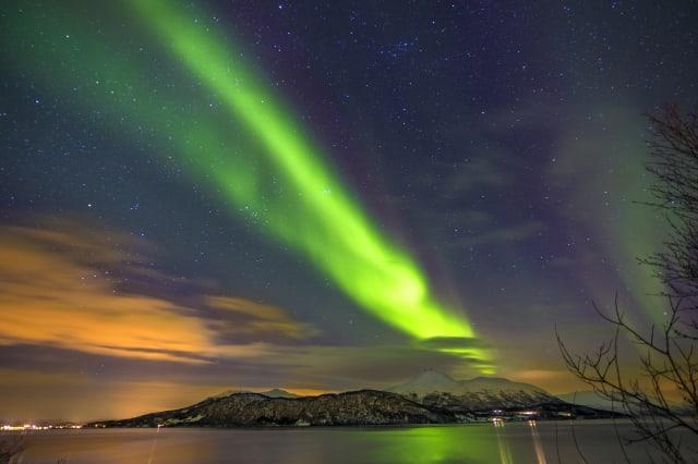Northern lights / Aurora landscape in Norway