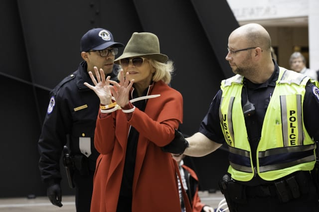 Jane Fonda Arrested During A Climate Change Protest In Washington