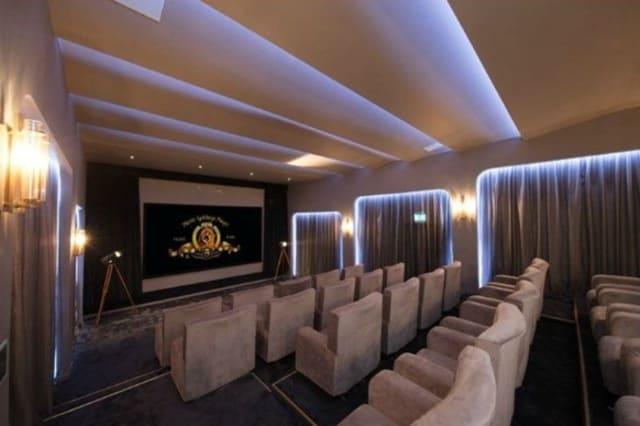 The cinema at the Denham flat