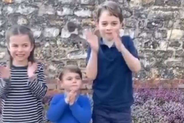 Prince George, Princess Charlotte and Prince Louis join 'Clap for Carers'