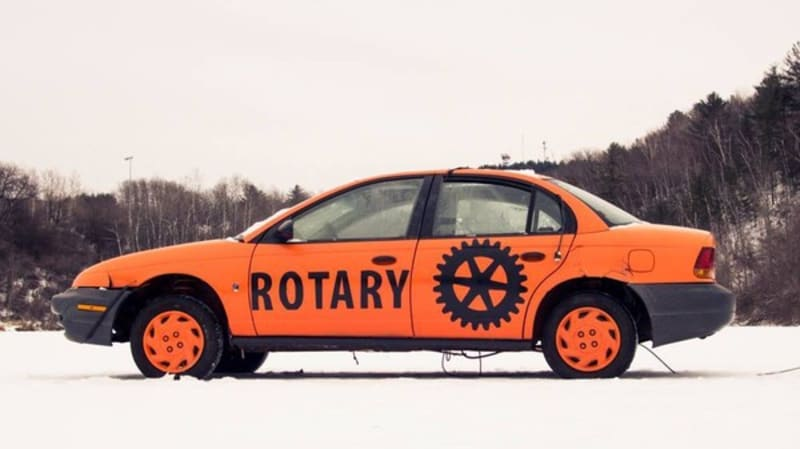 Guess when this car will plunge through the ice, win $1,500