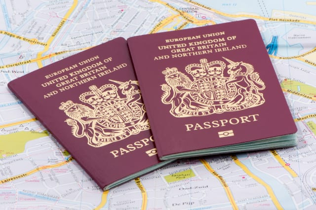 Two United Kingdom Passports