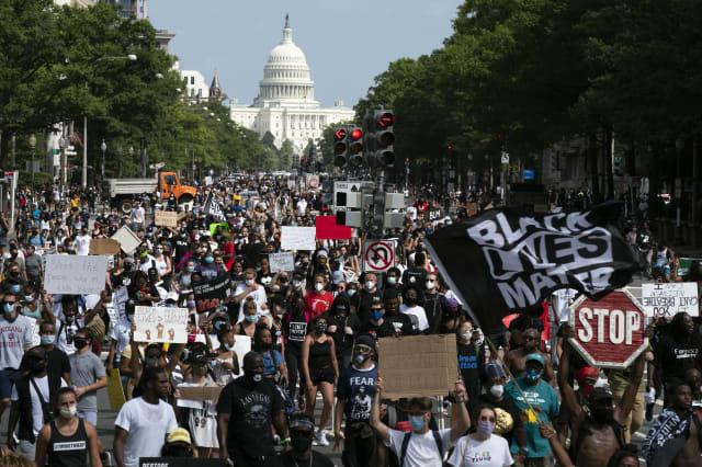 APTOPIX Racial Injustice March on Washington