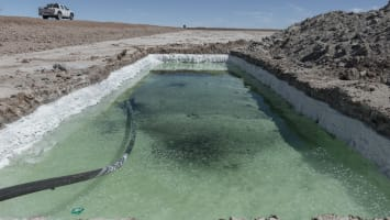 Operations At The Salar de Uyuni As Bolivia Aims To Become The World's Biggest Exporter of Lithium