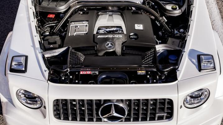 Mercedes-AMG G 63Exterieur: designo mysticweiß bright, Exterieur-Edelstahl-PaketInterieur: designo Leder macchiatobeigeKraftstoffverbrauch kombiniert: 13,2 l/100km;CO2-Emissionen kombiniert: 299 g/km //Mercedes-AMG G 63Exterior: designo mysticwhite bright, Exterior-Stainless steel-PacketInterior: designo leather macchiato beigeFuel consumption combined: 13,2 l/100km;CO2-emissions combined: 299 g/km