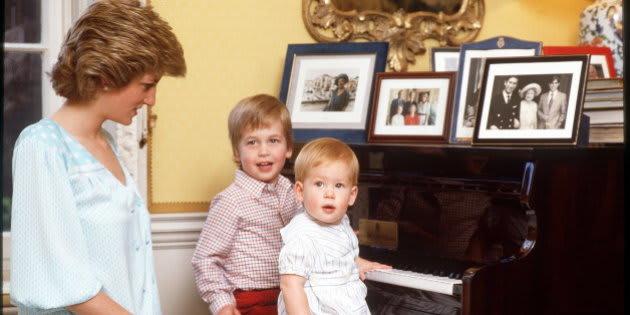 ダイアナ元妃と2人の息子