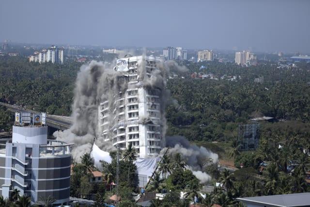 India Apartment Demolition