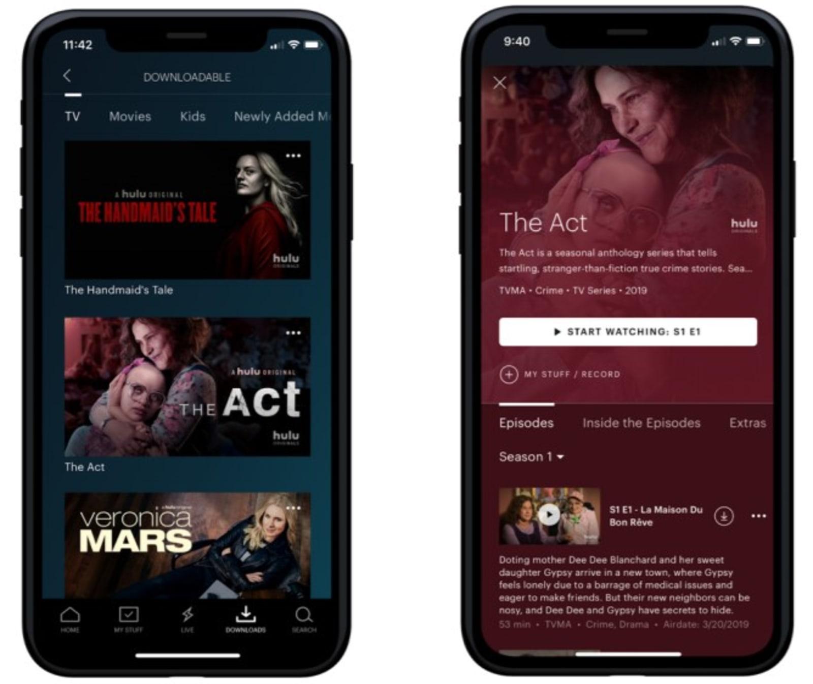 Hulu downloads