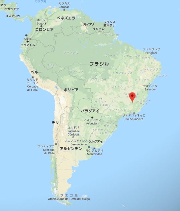 ダムが決壊したブルマジーニョの位置