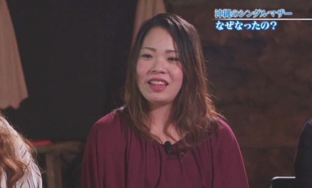妊娠中で3人の子供を育てている島袋紗千さん