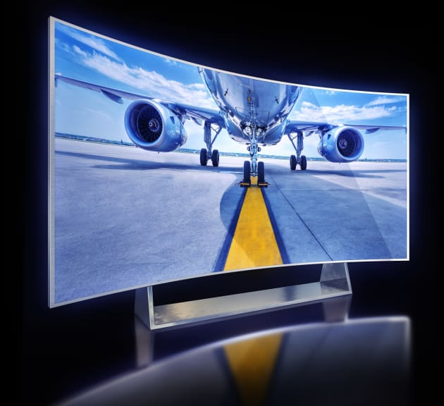 3D rendering of a curved TV