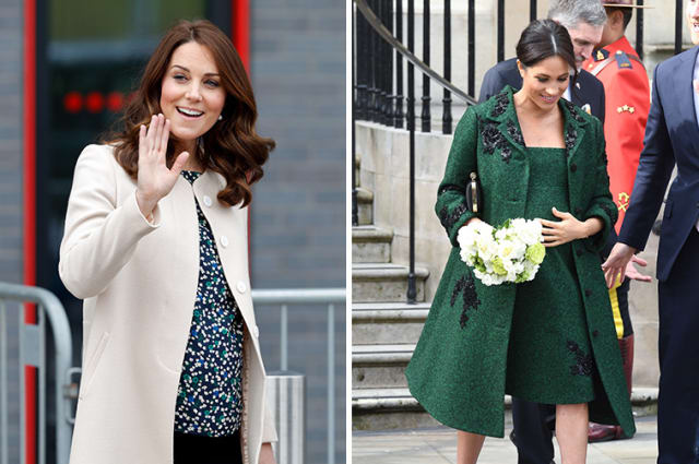 Kate and Meghan pregnancy style