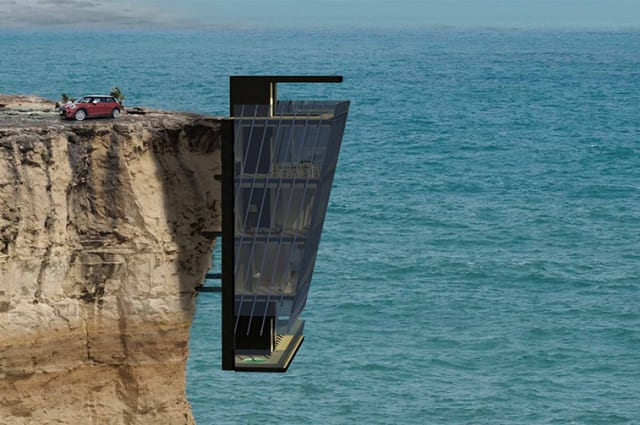 Cliff house in Australia