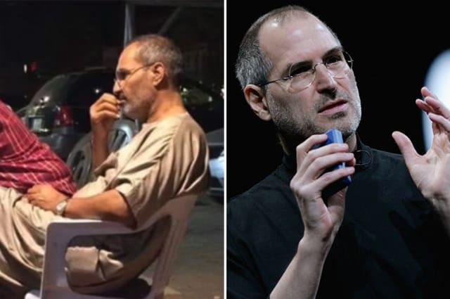Steve Jobs and lookalike