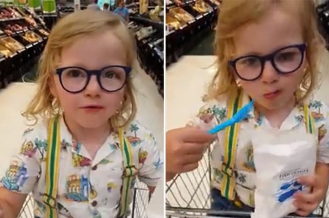 """""""Maybe if you had gone to the gym!"""" Adorable little boy bans mother from having chips after skipping workout"""