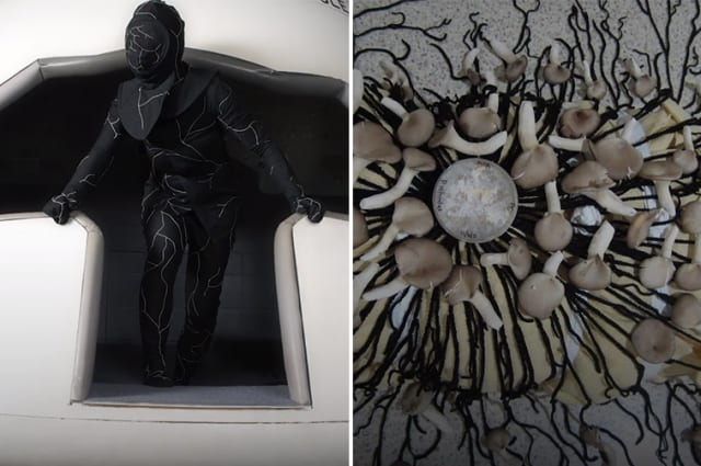This mushroom-looking suit helps decompose bodies after death