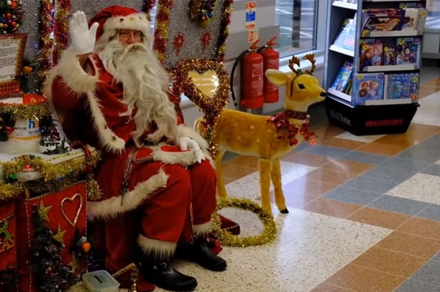 Britain's longest-serving Santa Claus is still bringing the magic of Christmas to children after almost 60 years