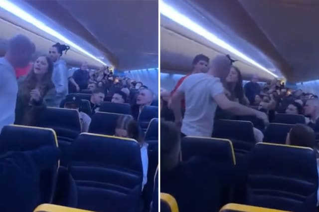 Angry passengers on Ryanair flight