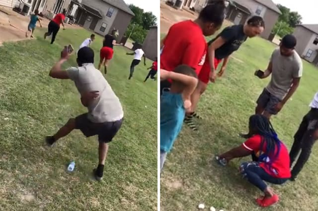Guy hits girl on back of head with egg while playing spin the bottle game during quarantine