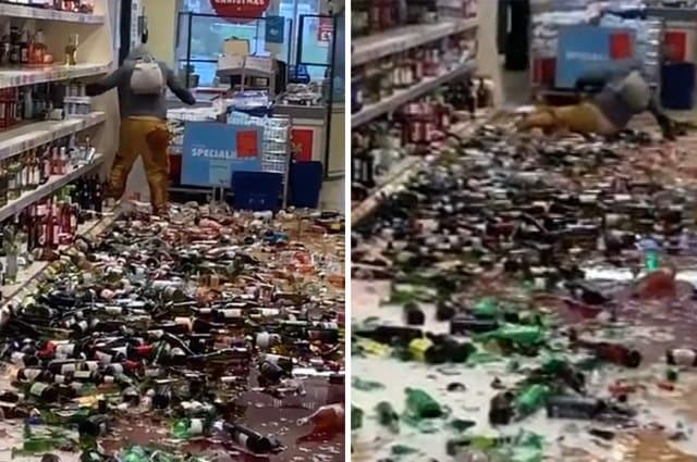 Woman shatters hundreds of bottles of alcohol inside Stevenage supermarket