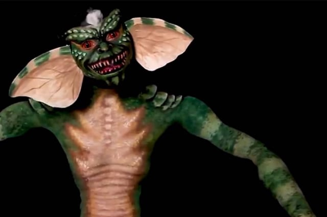 Artist turns herself into terrifying Gremlin with bodypaint illusion
