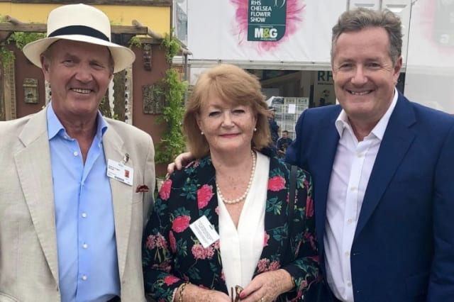 Piers Morgan with parents Glynne and Gabrielle