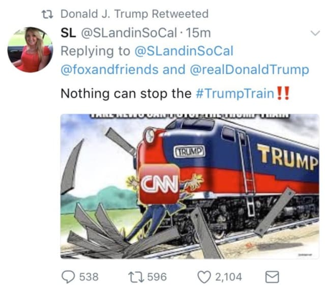 Trump's now-deleted retweet from August 15.