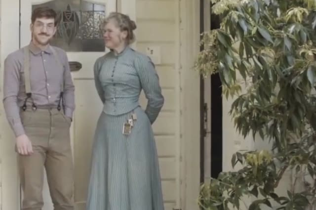 Couple living a Victorian life