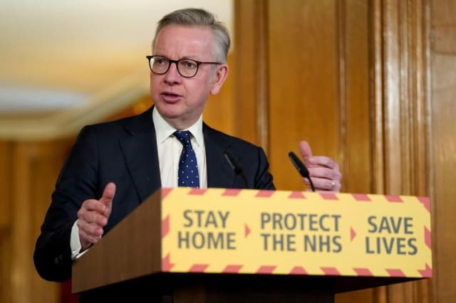 Gove is self isolating as family member has COVID-19 symptoms - ITV