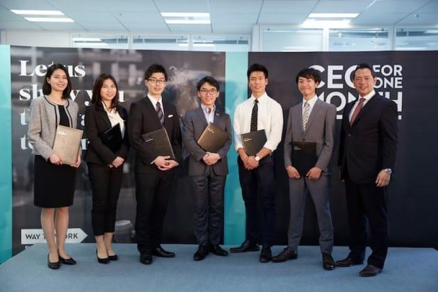 ▲2018年度 CEO for One Monthの最終選考に残ったメンバー(写真中央が小杉山さん)