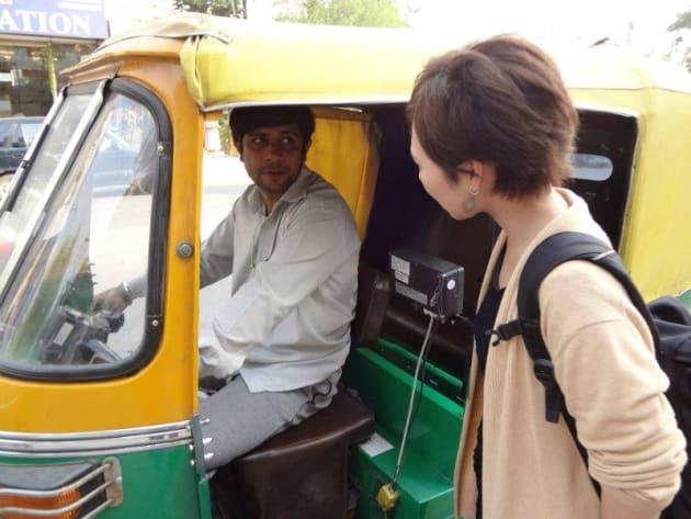 リキシャーで行ってきたわけではありませんが、気分はインドです(笑)