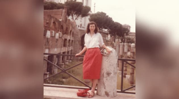 Leona Huggins on her first trip to Rome in