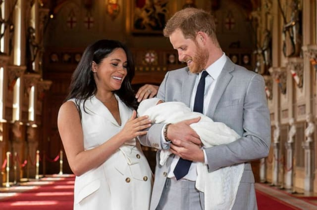 Prince Harry and Meghan's son, Archie, meets his grandfather Prince Charles