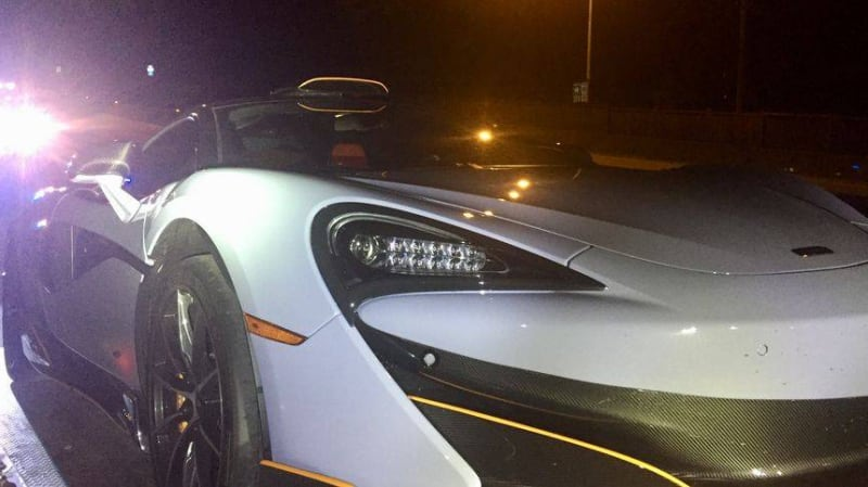 McLaren impounded right after delivery