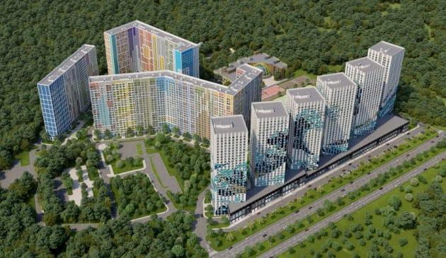 エタロン・シティの完成予想図。不動産業者「エタロングループ」の公式サイトより。