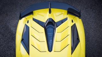 2019 Lamborghini Aventador SVJ engine cover